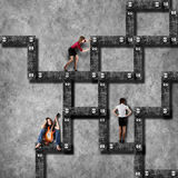 Labyrinth business concept Royalty Free Stock Photos