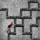Labyrinth business concept Royalty Free Stock Images