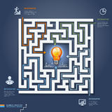 Labyrinth business solutions. Vector illustration. Stock Images