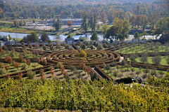 Labyrinth. In a castle park in Troja (Prague) - autumn Royalty Free Stock Image