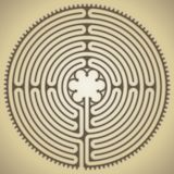 Labyrinth of the cathedral of Chartres, France Royalty Free Stock Images