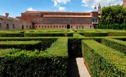 Labyrinth Church of San Giorgio Maggiore Monastry Garden Venice, Italy. Labyrinth in the garden of the San Giorgio Maggiore monastry in Venice, Italy Stock Photos