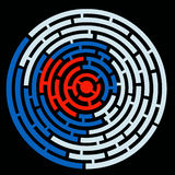 Labyrinth of circles Royalty Free Stock Photography