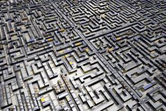 Labyrinth city maze Royalty Free Stock Photo