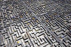 Labyrinth city maze Royalty Free Stock Photo