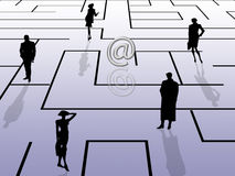 Labyrinth concept, email theme Royalty Free Stock Image