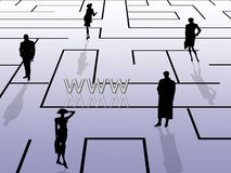 Labyrinth concept, internet Stock Photography