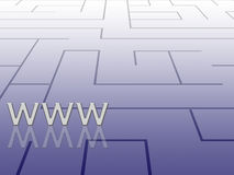 Labyrinth concept, internet Royalty Free Stock Image