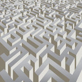Labyrinth corridors Royalty Free Stock Images