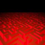 Labyrinth corridors Stock Photo