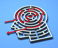 Labyrinth 3D Stock Image