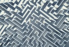 Labyrinth 3D Background. Illustration. In the Labyrinth Maze Abstract Royalty Free Stock Photo