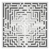 Labyrinth 3d Labyrinth-Form-Gestaltungselement Stockbild