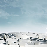 Labyrinth, 3d model Stock Image