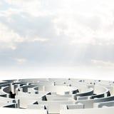 Labyrinth, 3d model Stock Photography
