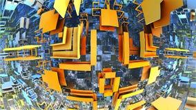 Labyrinth 3D oder Labyrinth Stock Abbildung