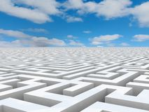 Labyrinth 3D white Stock Images