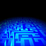Labyrinth in the darkness Royalty Free Stock Photos
