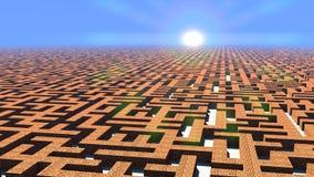 Labyrinth at dawn Stock Image