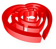 Labyrinth der Liebe Stockfotos