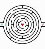 Labyrinth der Liebe Lizenzfreies Stockfoto