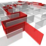 Labyrinth der rechteckigen Panels Lizenzfreie Stockfotos