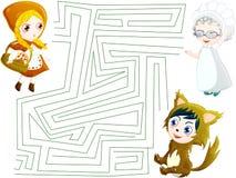 Labyrinth des Rotkäppchens Stockbild