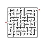Labyrinth des schwarzen Quadrats mit Eingang und Ausgang Ein Spiel für Kinder und Erwachsene Einfache flache Vektorillustration l Vektor Abbildung