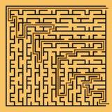 Labyrinth des schwarzen Quadrats (24x24) mithilfe Lizenzfreie Stockfotos