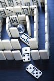 Labyrinth & Diamond. Domino - one of a set of small flat pieces of wood or plastic Royalty Free Stock Photo