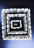 Labyrinth & Diamond. Domino - one of a set of small flat pieces of wood or plastic Stock Photos