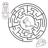 Labyrinth education Game for Children. Royalty Free Stock Images