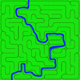 Labyrinth (Eisenbahn) Stockbild