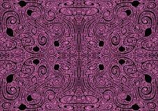 Tribal Maze Seamless Pattern Background. Labyrinth endless maze game tribal pattern. Seamless texture pattern background Royalty Free Stock Photo