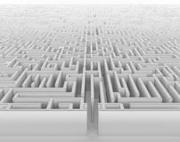 Labyrinth. An endless labyrinth in perspective view vector illustration