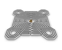 Labyrinth euro Royalty Free Stock Photos