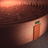 Labyrinth Exit Stock Photography