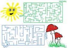 Labyrinth für Kinder lizenzfreies stockbild
