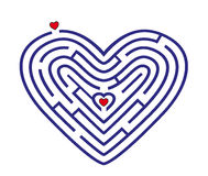 Labyrinth in form of heart stock illustration