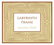 Labyrinth frame Royalty Free Stock Photo