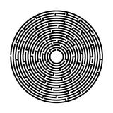 Labyrinth, game, entertainment, puzzle, Vector Image. Labyrinth, game, entertainment, puzzle, on a white background, Vector. Simple black circular labyrinth on vector illustration