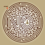 Labyrinth Game Vector Background Stock Photos