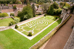 Labyrinth garden Stock Image