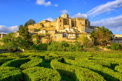 Labyrinth garden and castle Grignan, Drome, France Stock Photography