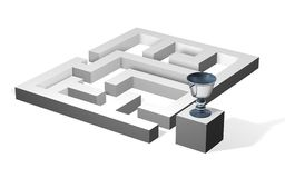 Labyrinth with a goblet Royalty Free Stock Photography