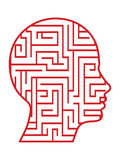 Labyrinth head vector Royalty Free Stock Images
