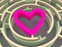 Labyrinth and heart Royalty Free Stock Photos