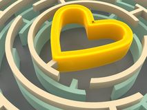 Labyrinth and heart Stock Photography