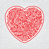 Labyrinth heart seamless Royalty Free Stock Photo