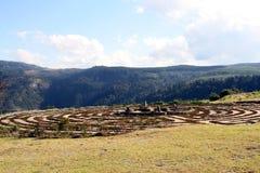 Labyrinth, Hogsback, Südafrika Lizenzfreies Stockbild